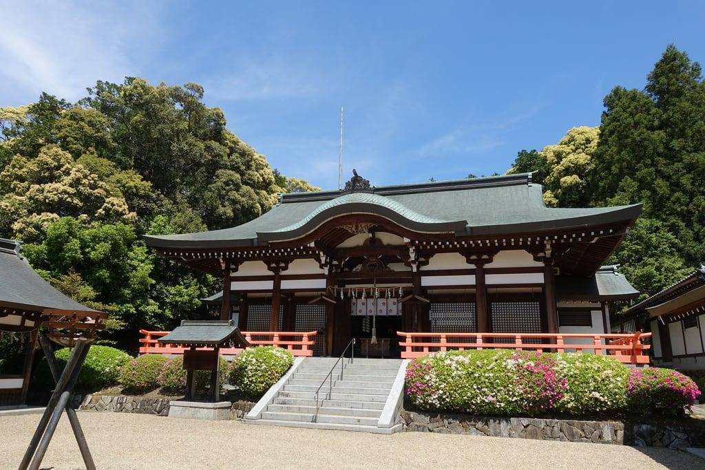 岡田國神社の本殿・本堂(京都府木津駅)