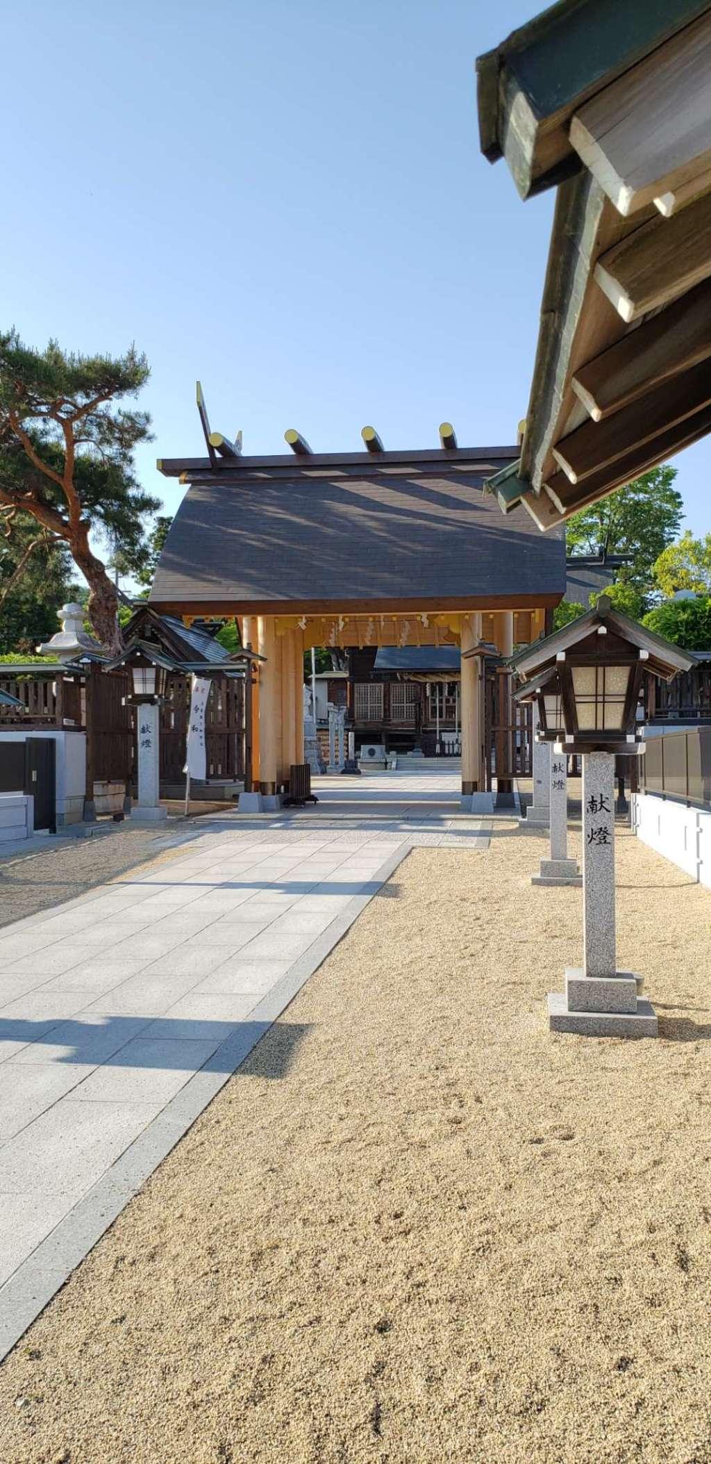 西根神社のその他建物(福島県飯坂温泉駅)