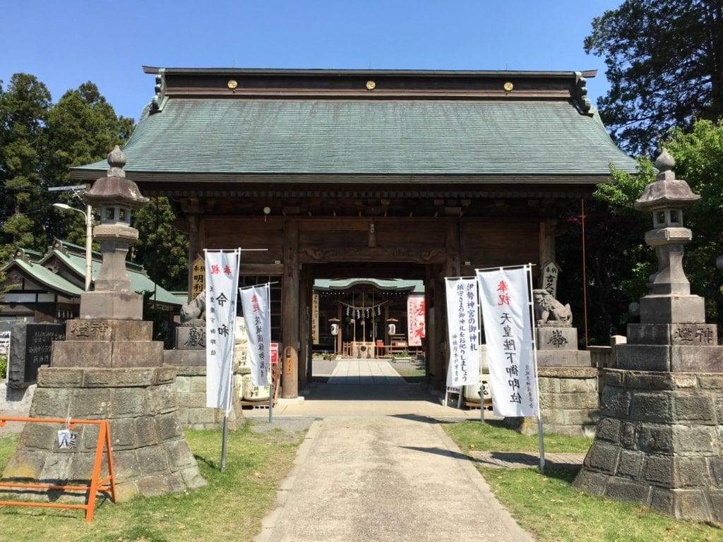 常陸第三宮 吉田神社の山門