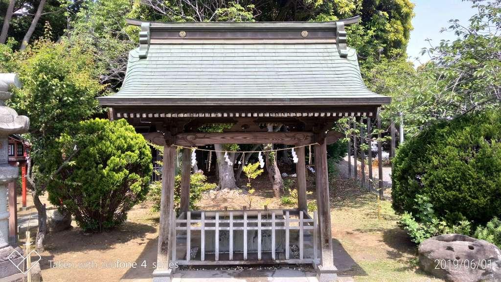 常陸第三宮 吉田神社の手水