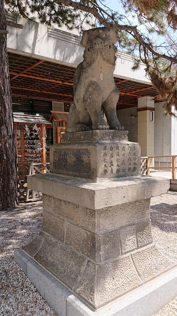 白石神社の狛犬