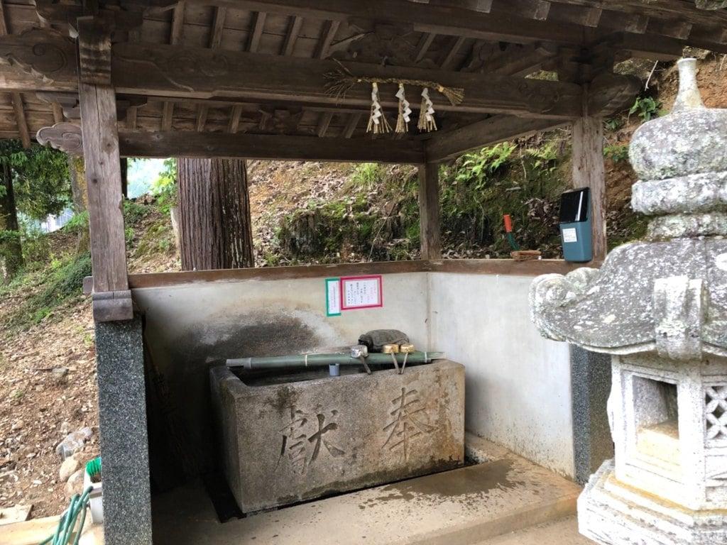 苅田彦神社の手水