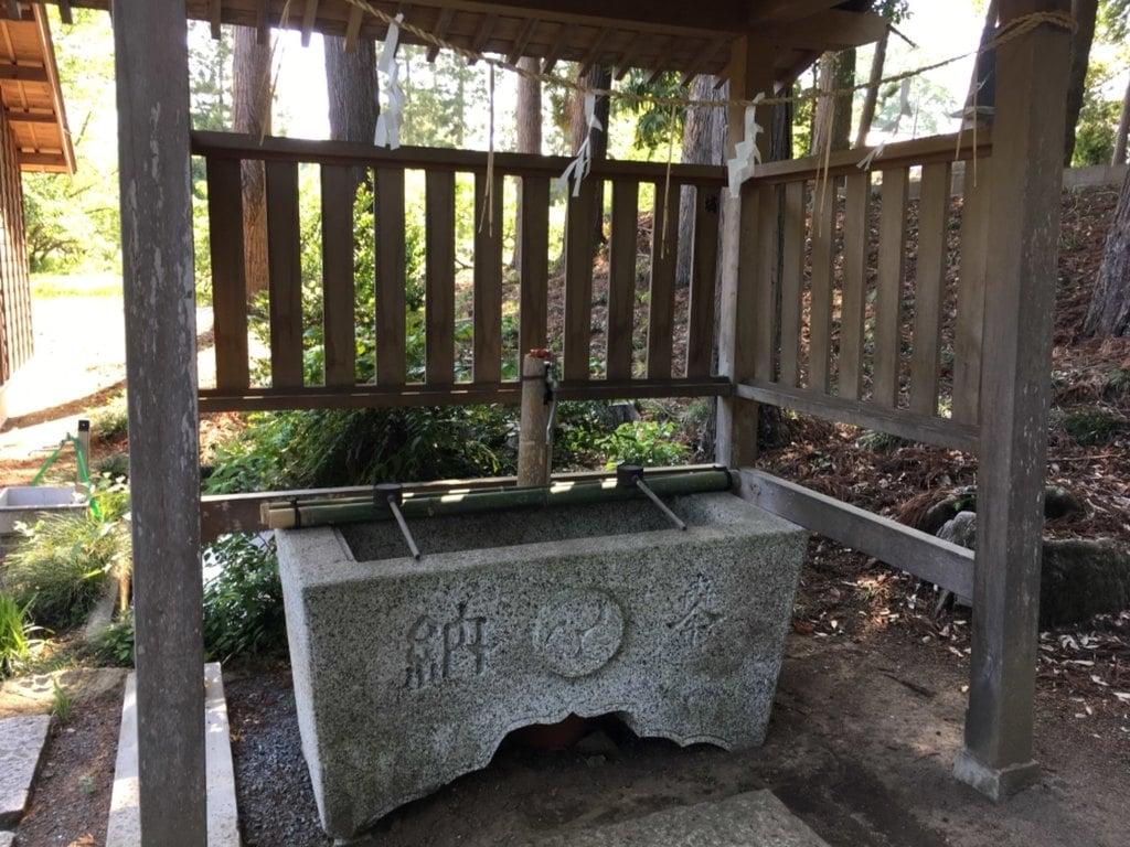 有賀神社の手水