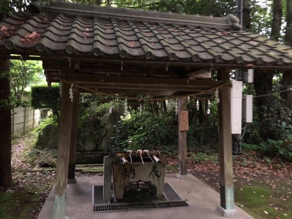 青海神社の手水