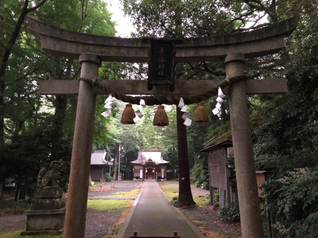 青海神社の鳥居