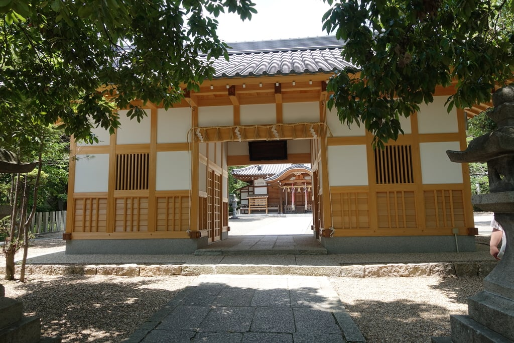 吉志部神社の山門