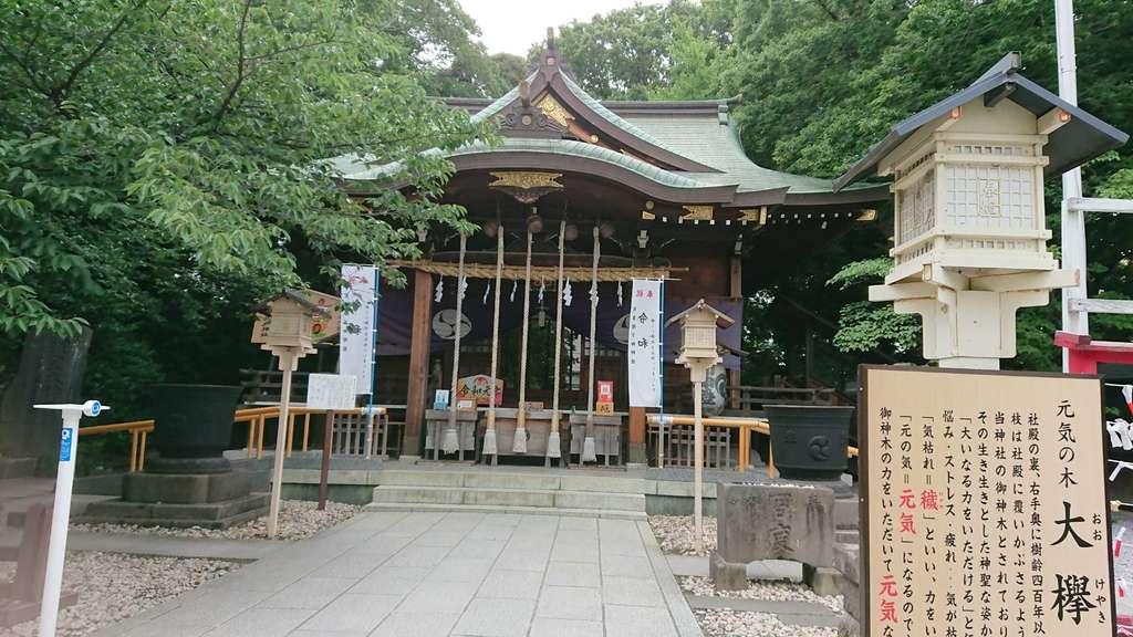 鎮守氷川神社の本殿