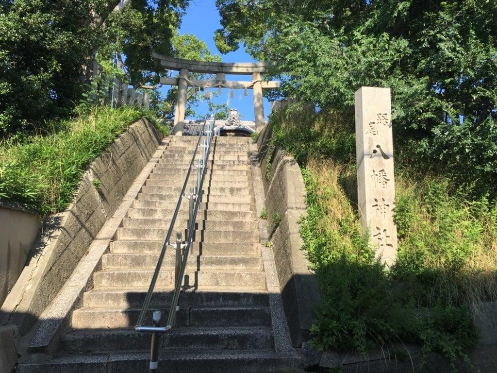踞尾八幡神社の鳥居