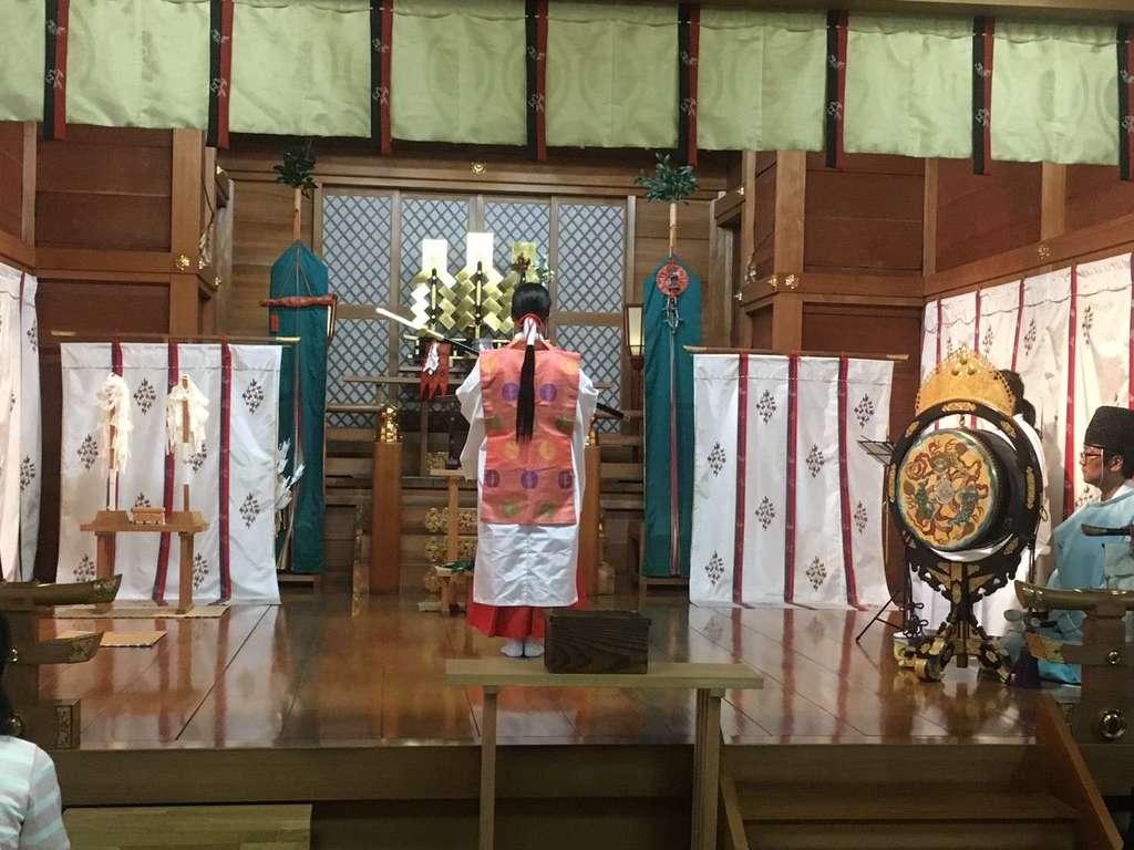 厄除の宮 駒林神社の神楽