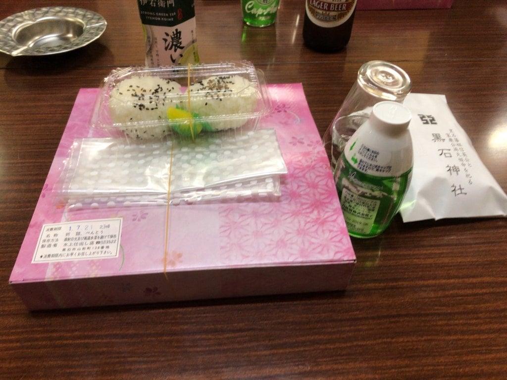 黒石神社の食事