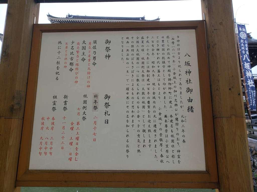 小倉祇園八坂神社の歴史