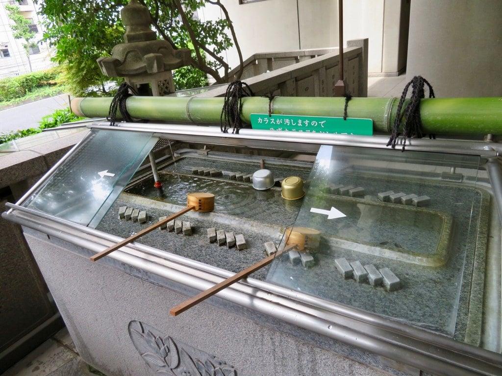 雉子神社の手水