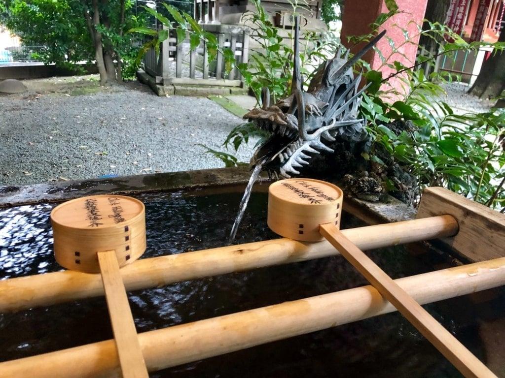 金王八幡宮の手水