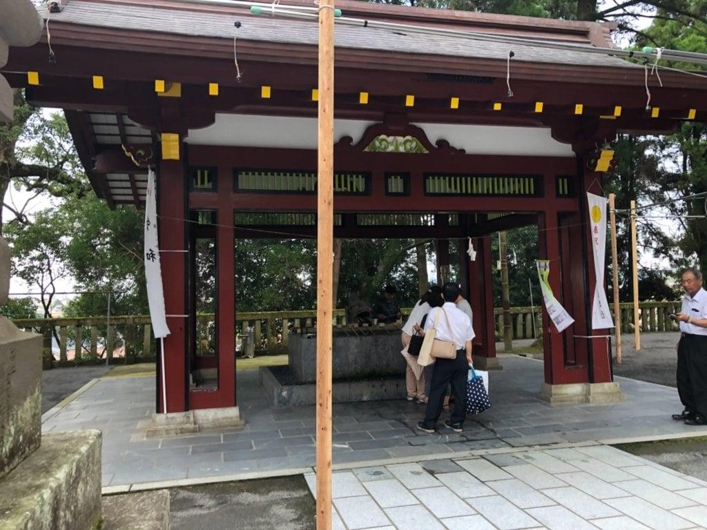 鹿児島神宮の手水