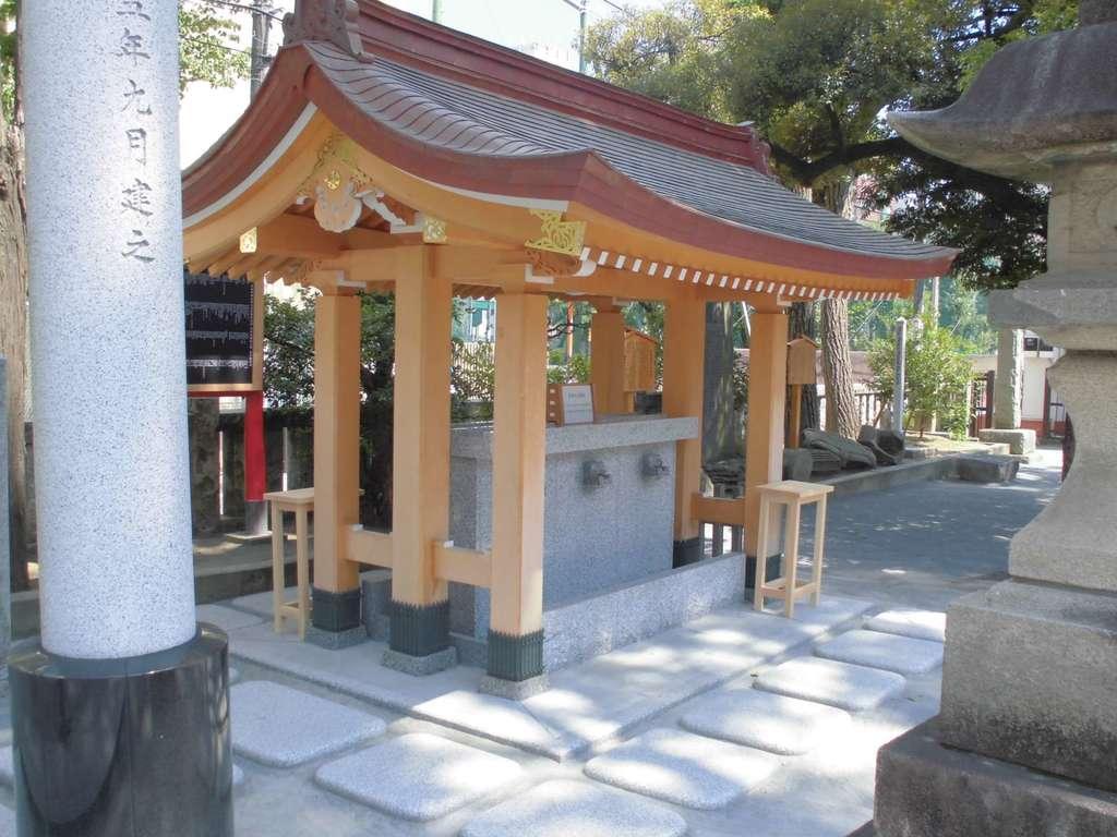 お三の宮日枝神社の手水