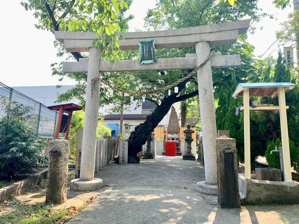 白浪大神鴉宮神社御旅所北港桜島神社の鳥居