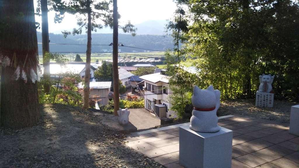 鹿角八坂神社の景色