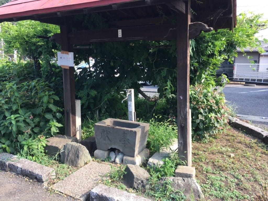 並木氷川神社の手水
