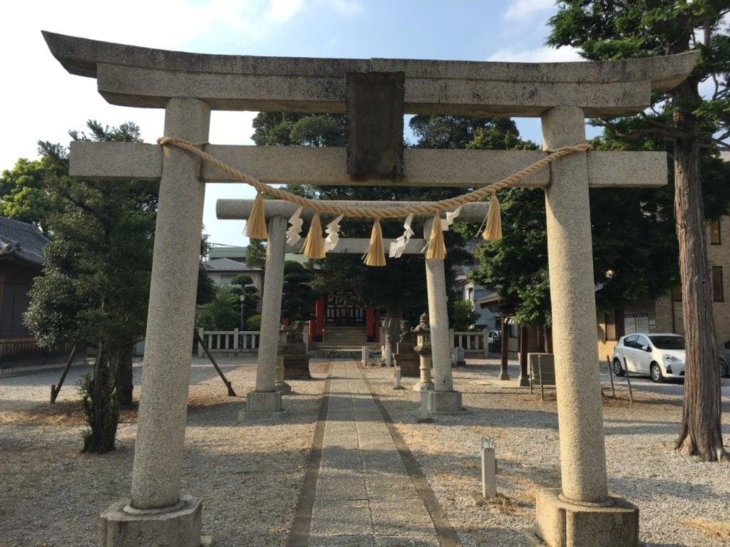 小村田氷川神社の鳥居