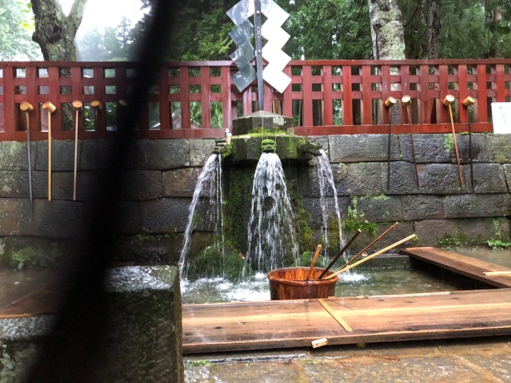 岩木山神社の手水