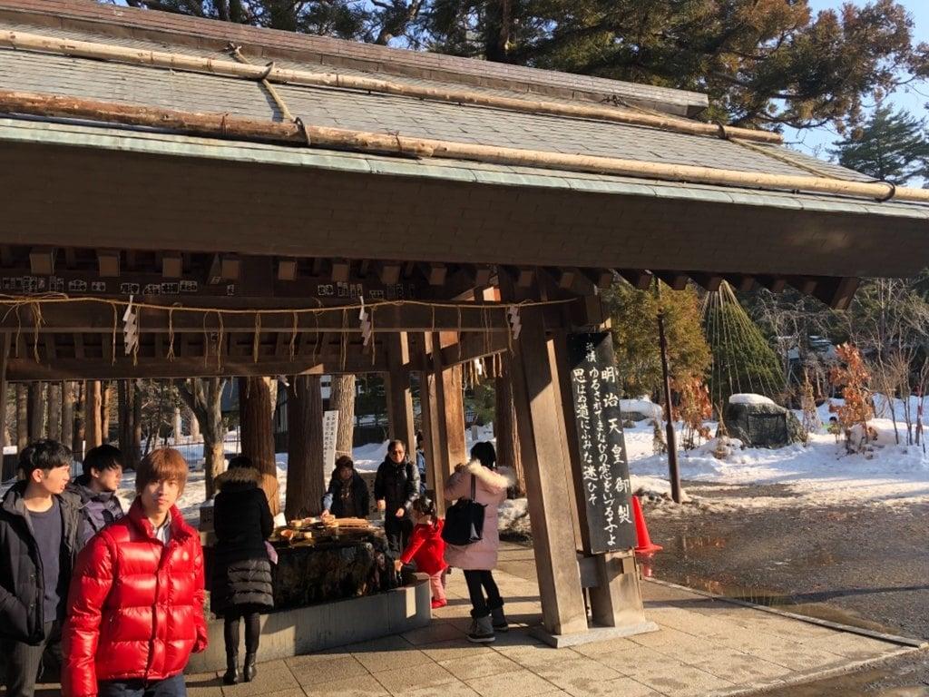 北海道神宮の手水