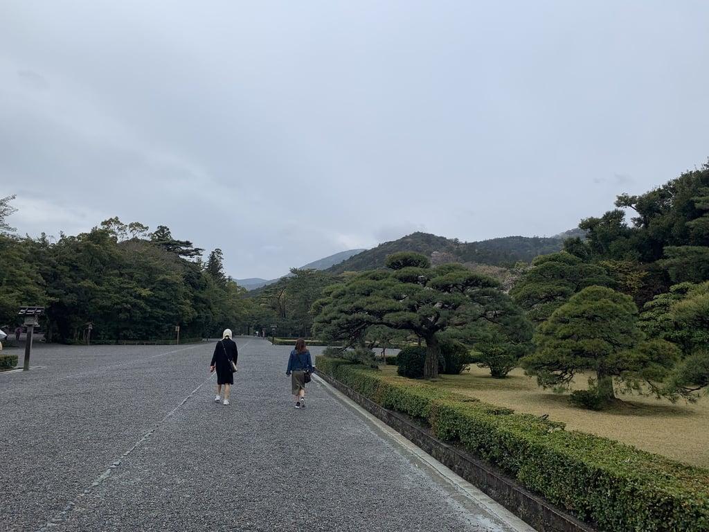伊勢神宮内宮(皇大神宮)の庭園