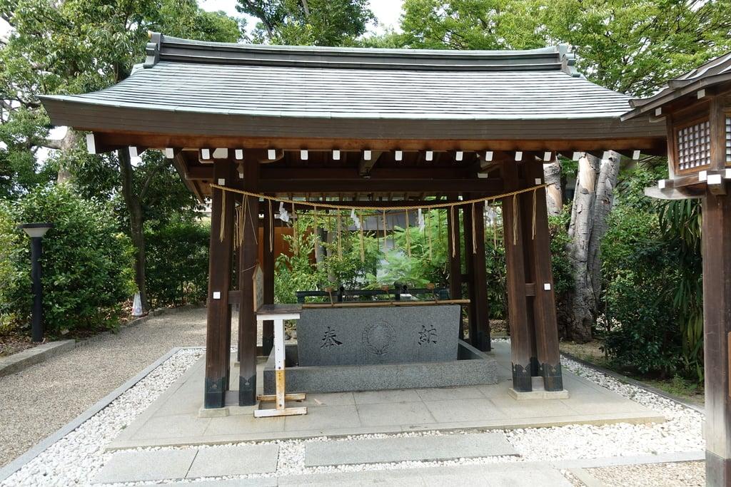 辛國神社の手水