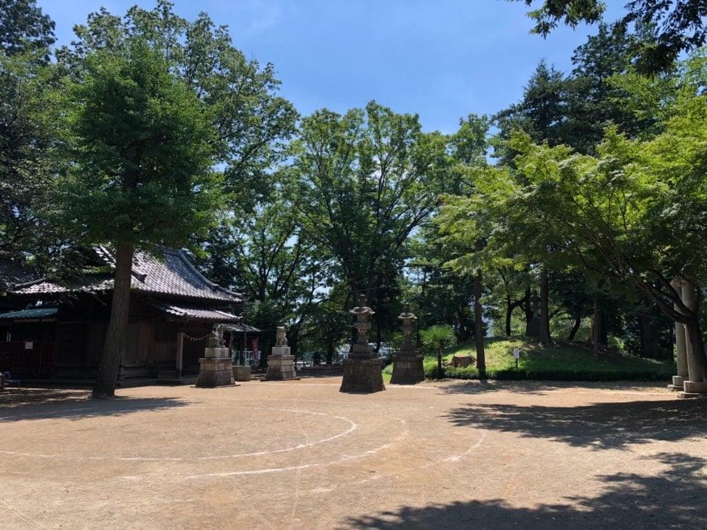 仙波氷川神社の庭園