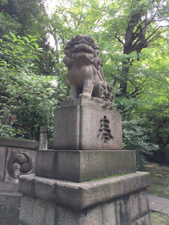 赤坂氷川神社の狛犬