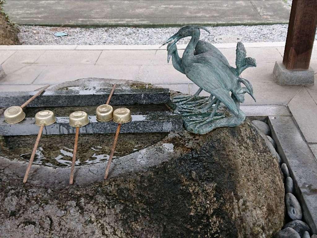 白鷺神社の手水