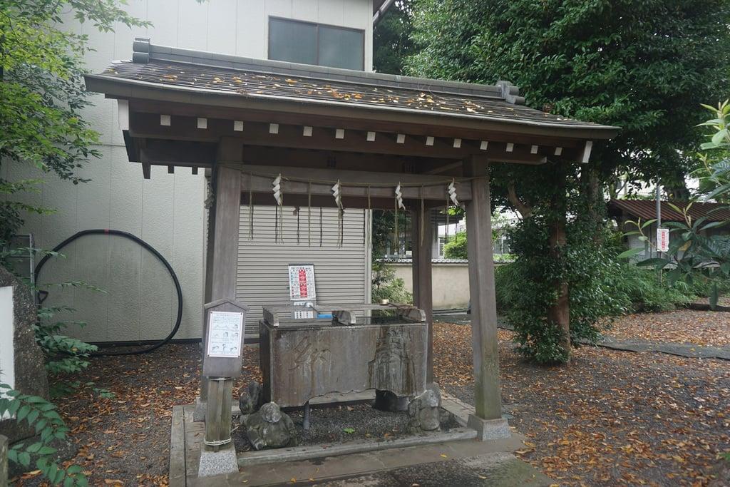 青渭神社の手水
