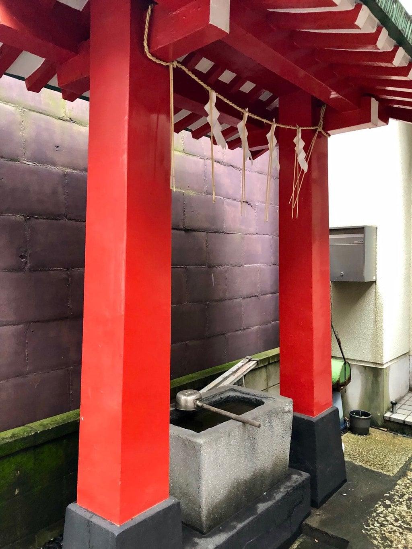 粂森稲荷神社の手水