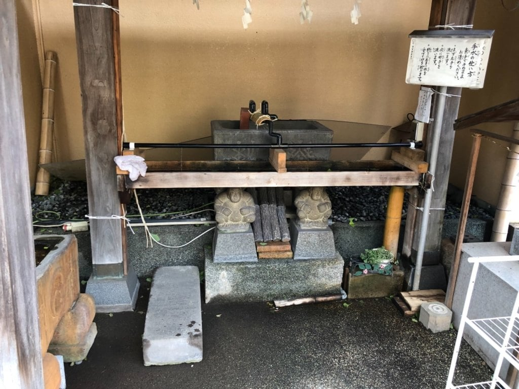 菊名神社の手水