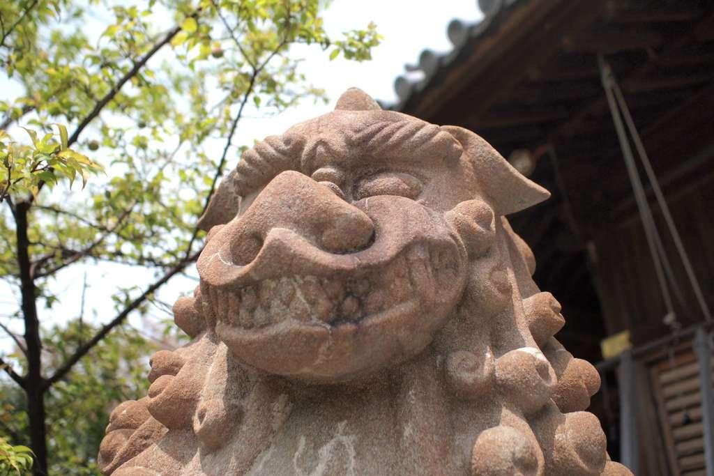 柿本神社の狛犬