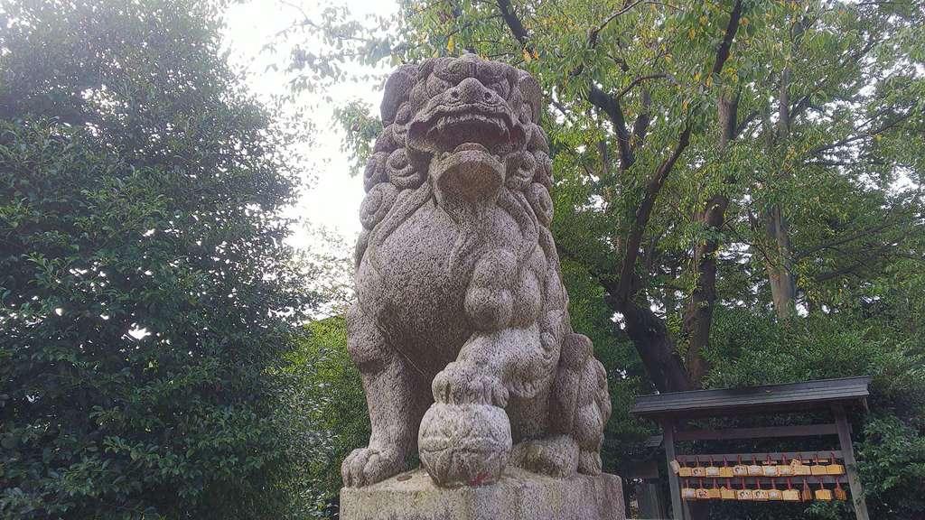 野火止氷川神社の狛犬