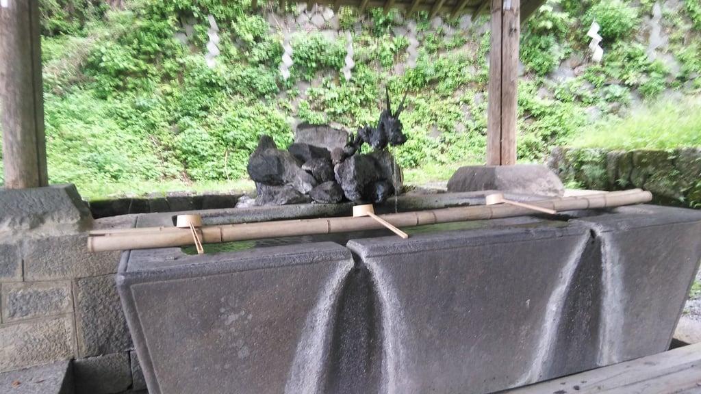 金櫻神社の手水