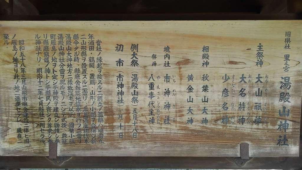 里之宮 湯殿山神社の歴史