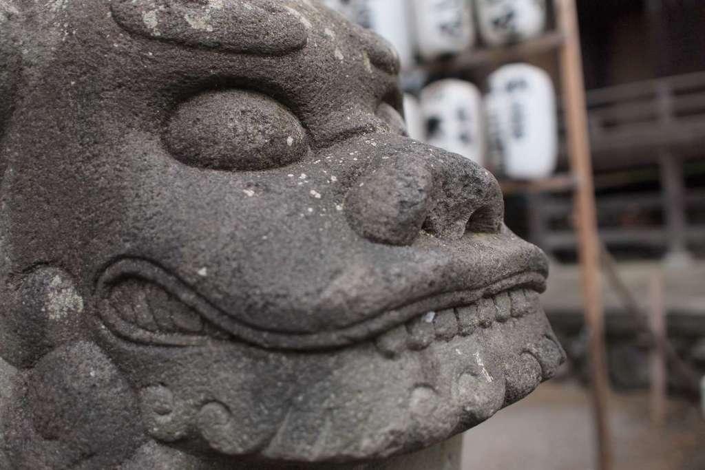 雀神社の狛犬