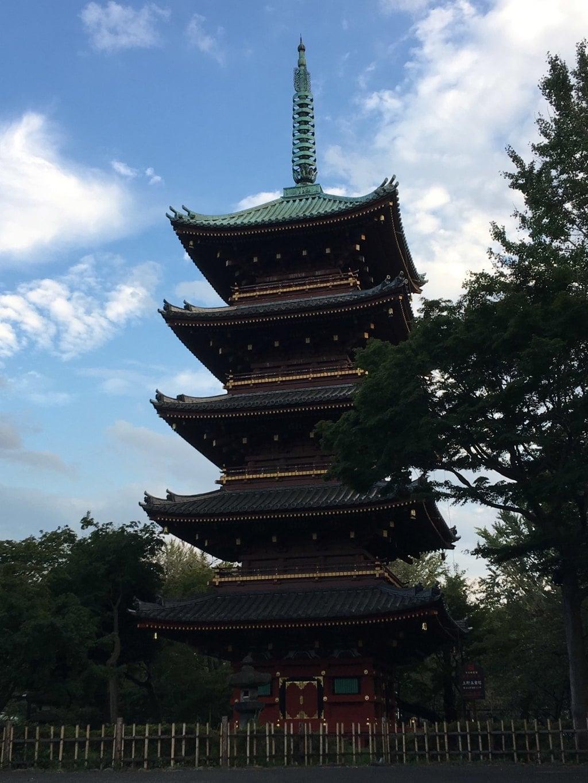 上野東照宮の塔