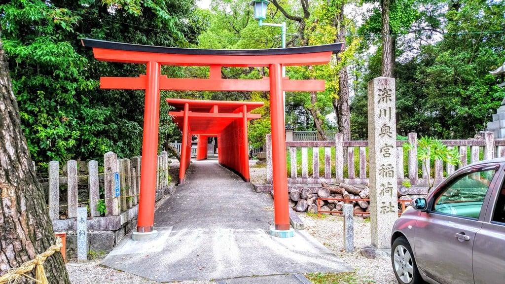 深川神社の鳥居