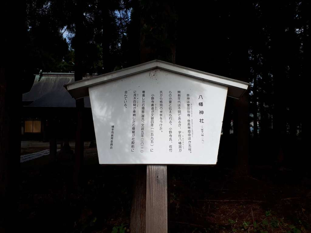 横手八幡神社の歴史