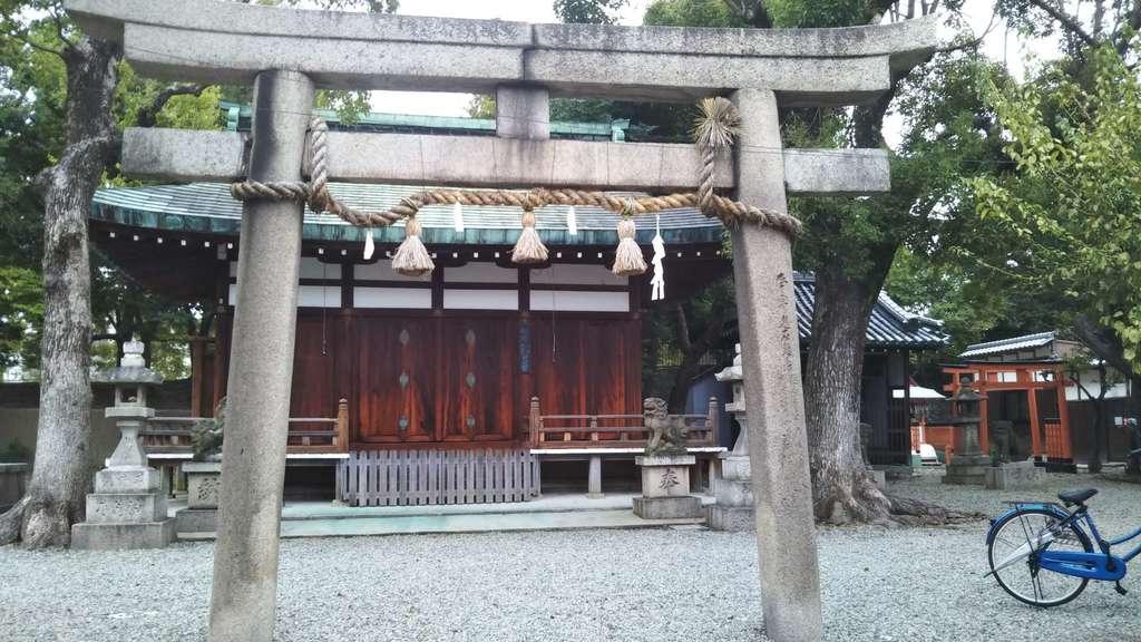 赤留比売命神社(杭全神社飛地境内社)の鳥居