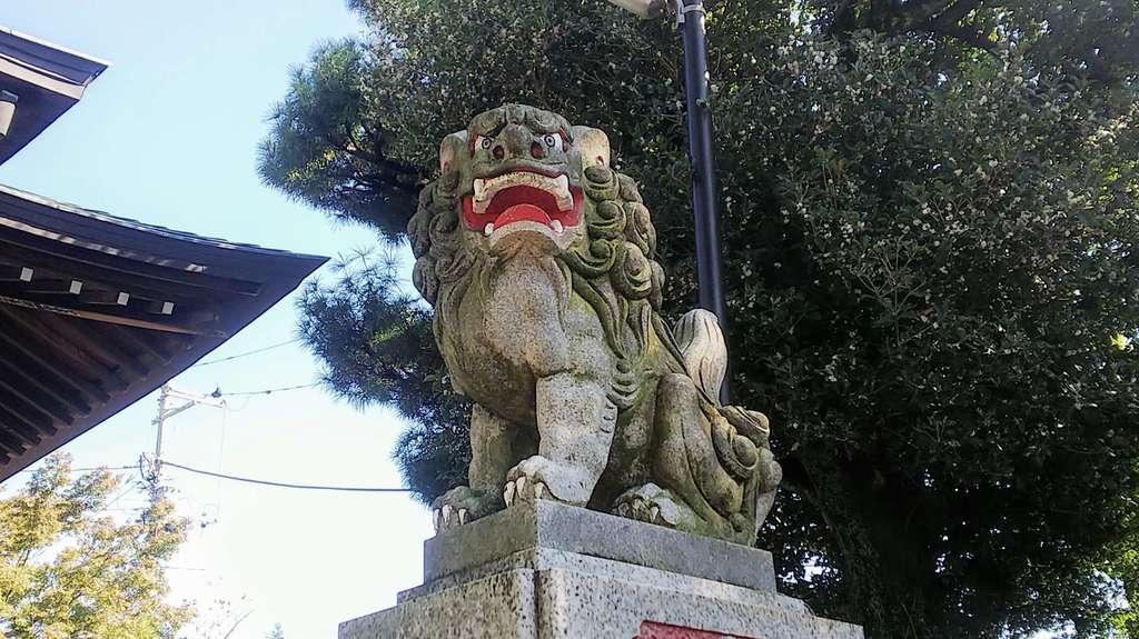 狭山神社の狛犬