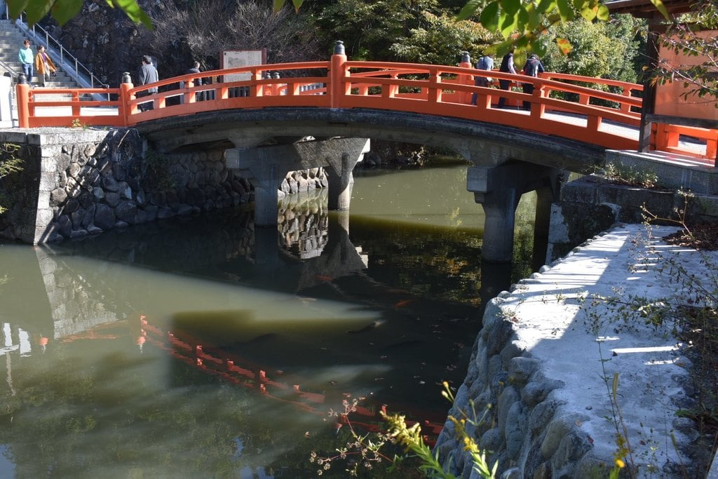 武田神社の庭園