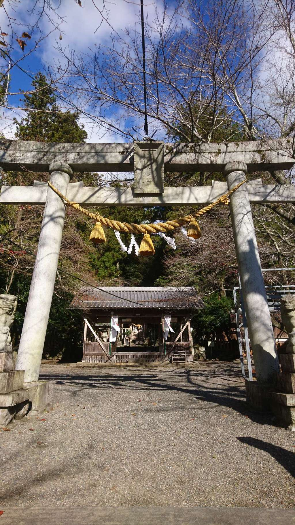 天鷹神社の鳥居