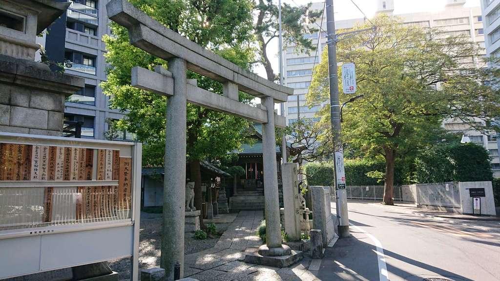 廣尾稲荷神社の鳥居