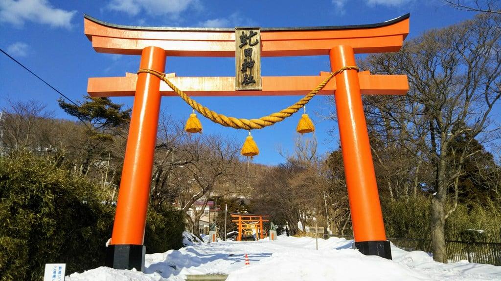 虻田神社の鳥居