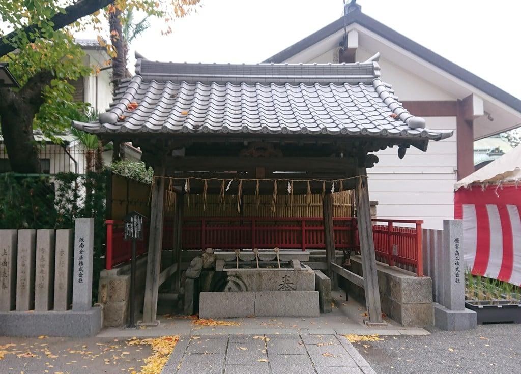 開口神社の手水