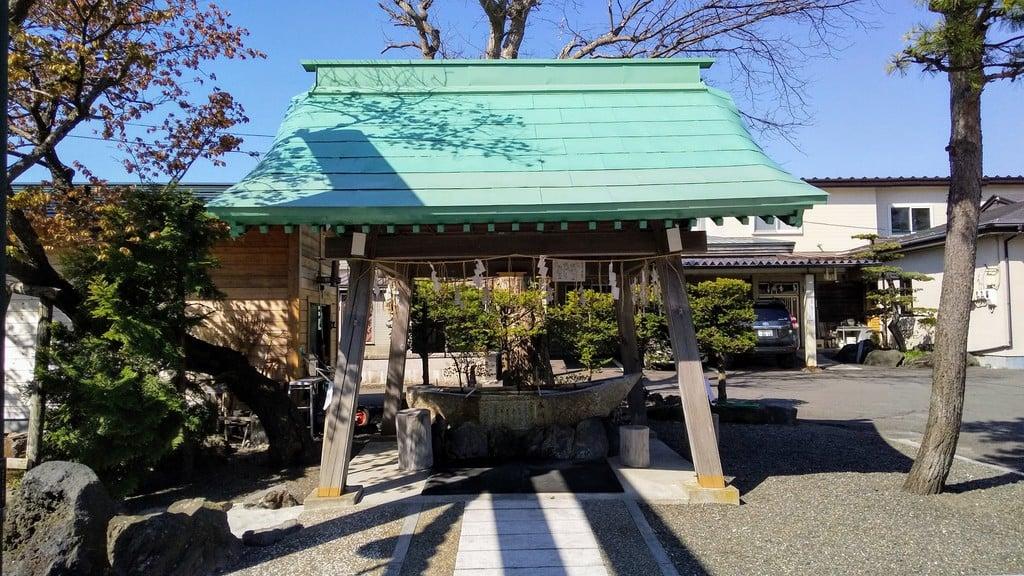 刈田神社の手水