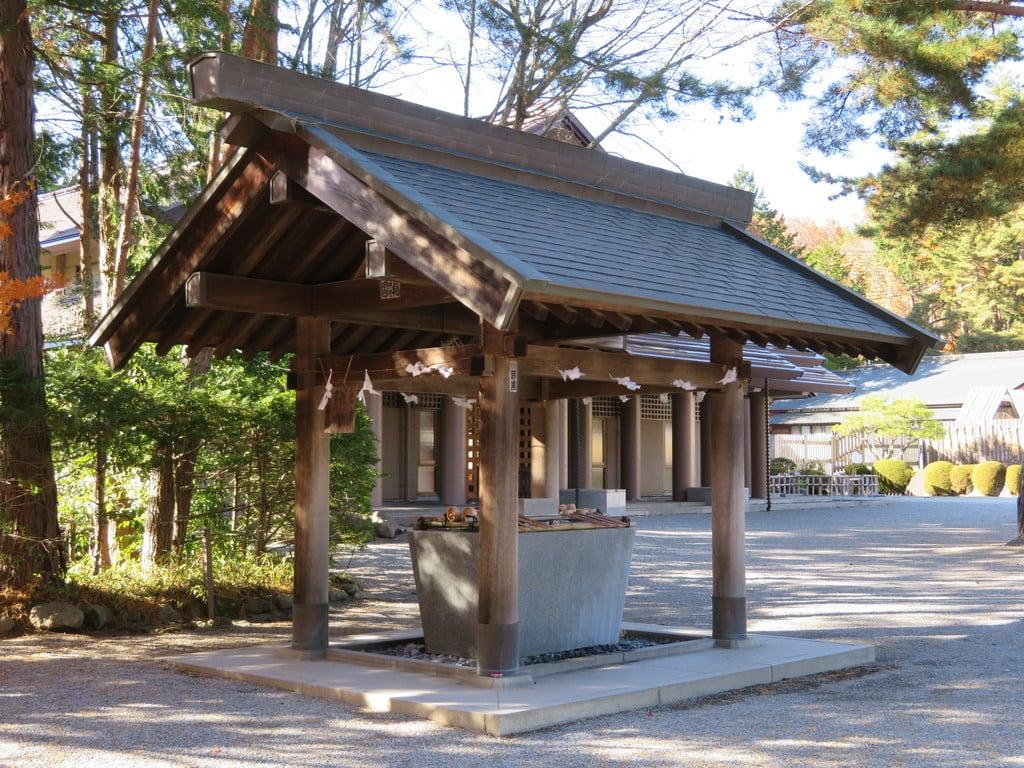 身曾岐神社の手水